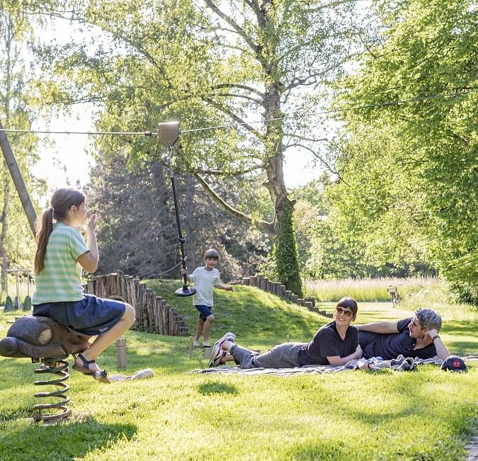 Spielplatz Bettingertäli Riehen Familien Kinder Foto Martin Graf