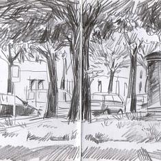 Sketch it! Riehen in Strichen. Ein Skizzen-Workshop für alle Niveaus